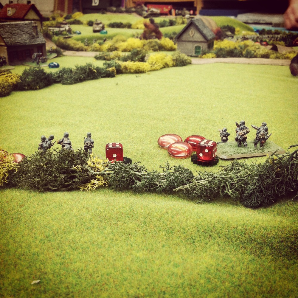 German defenders get routed at the first objective during close assault and fall back