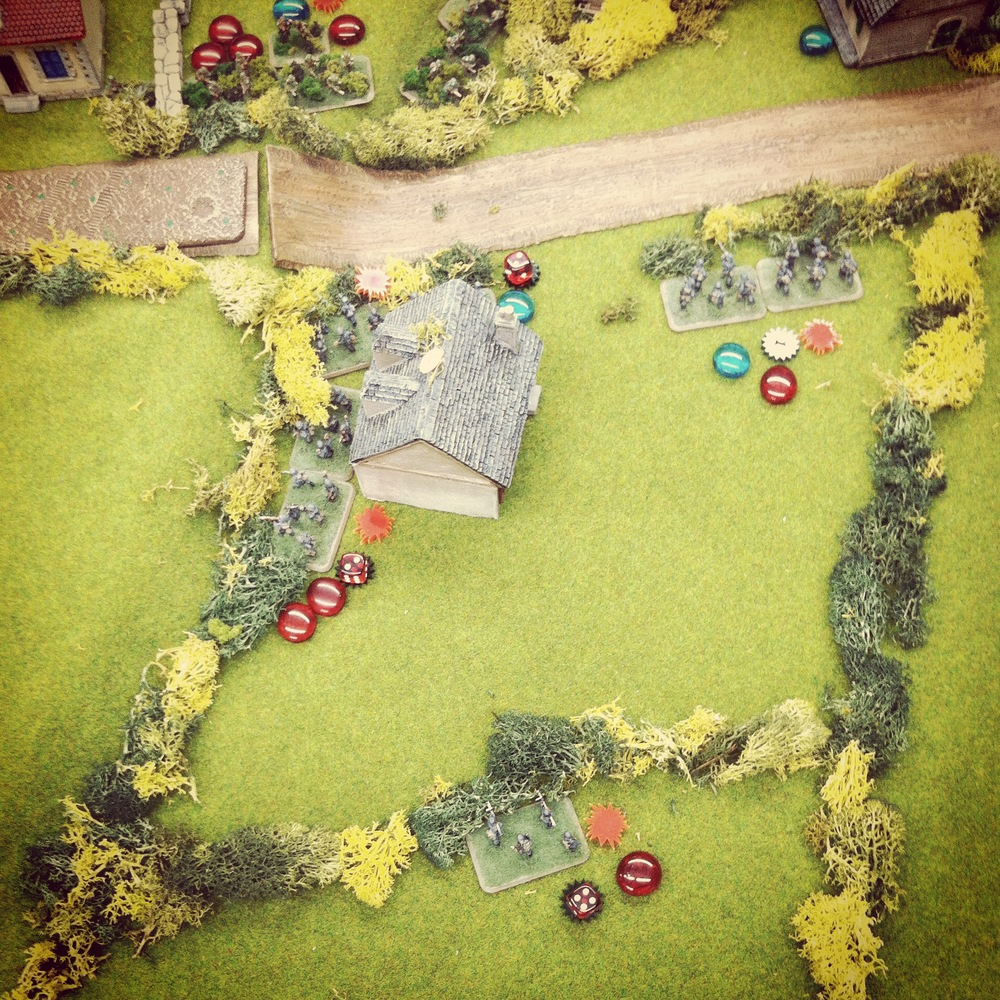 The final objective falls to the Americans as the German defenders are caught in combined infantry and artillery fire