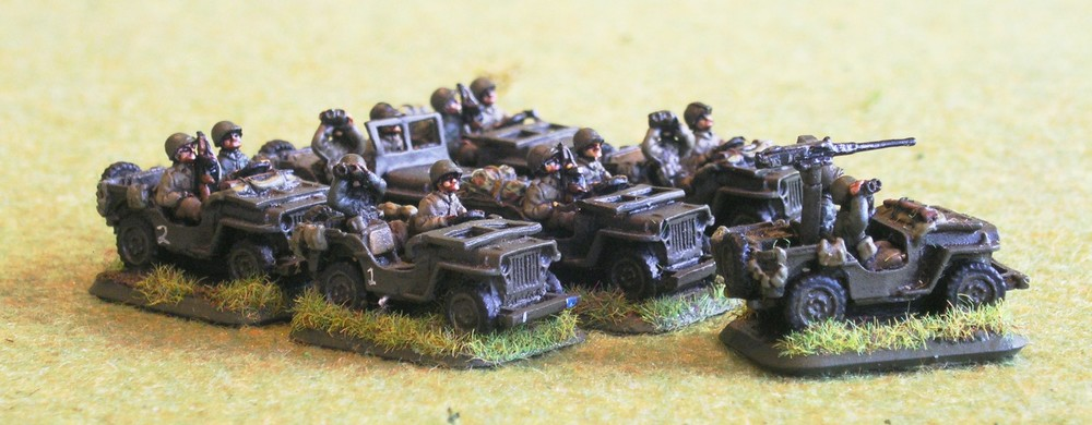 Intelligence & Recon Platoon (seven jeeps)