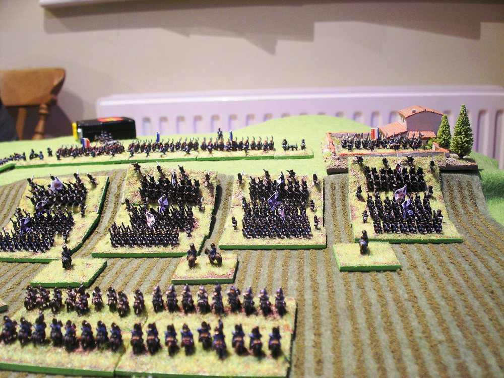 the prussians in position for their assault, about to receive fire from the french line