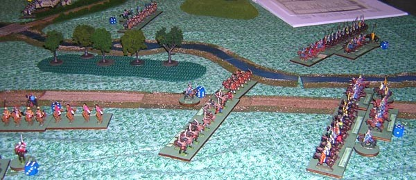 Sean deploys against Mark's cavalry