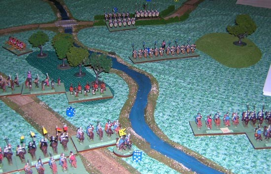 Jay's cavalry moves up to keep the flank secure