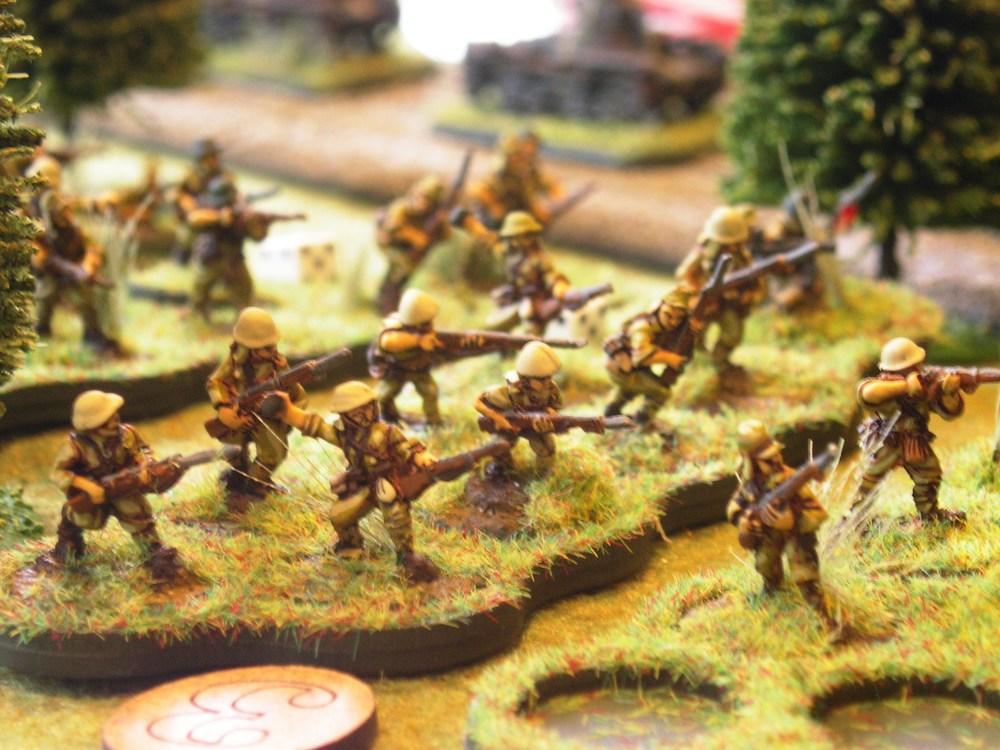 japanese platoon three advancing forward