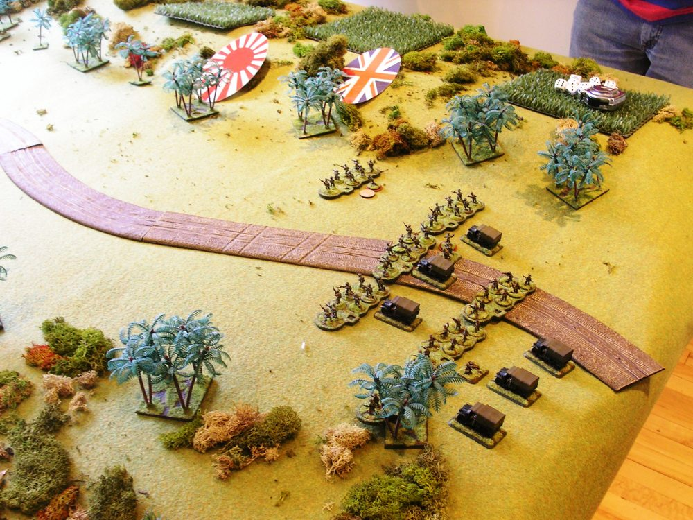 british indian troops form firing lines