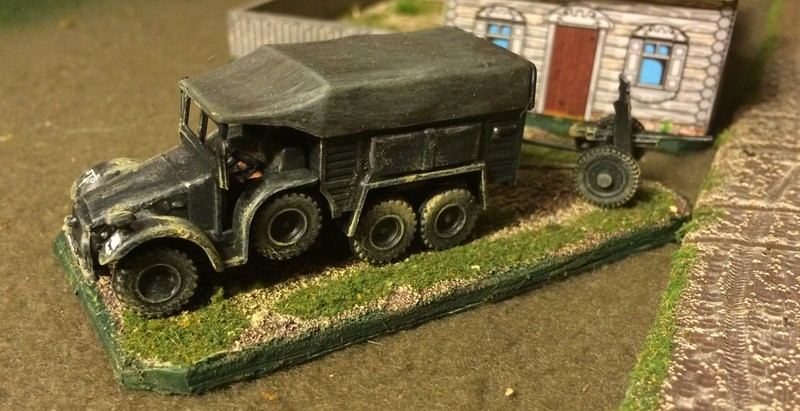 The Mad Padre's 20mm Revel Krupp Protze truck with AT Gun