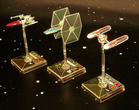some of kev's x-wing models