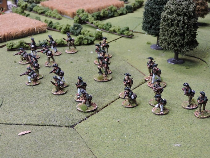 New entrant Jon Davenport's Hessians in 28mm