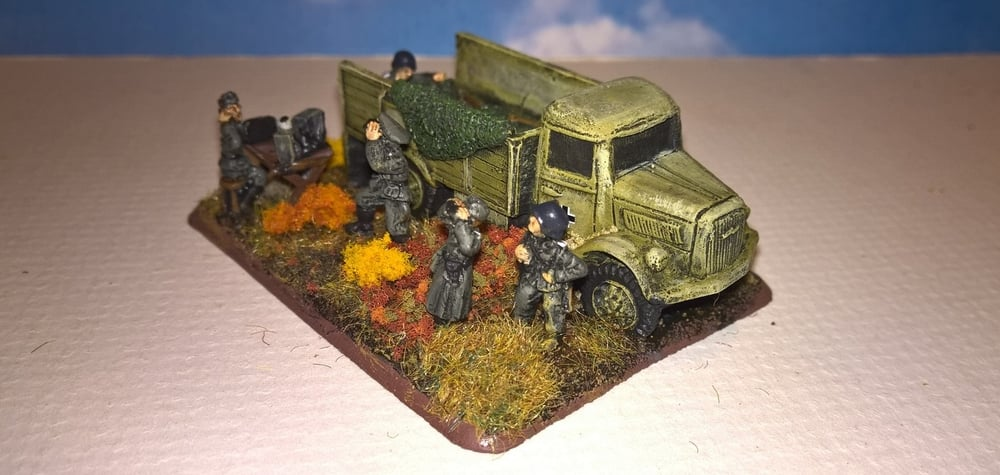 Andrew Helliwell's command post/objective marker