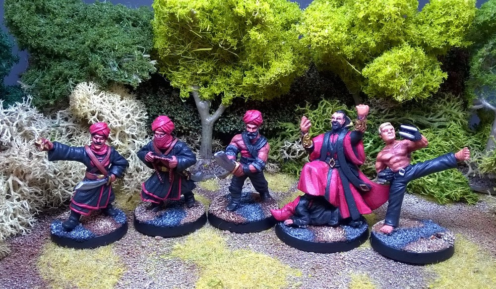 Some of Matt Slade's baddies from Crooked Dice