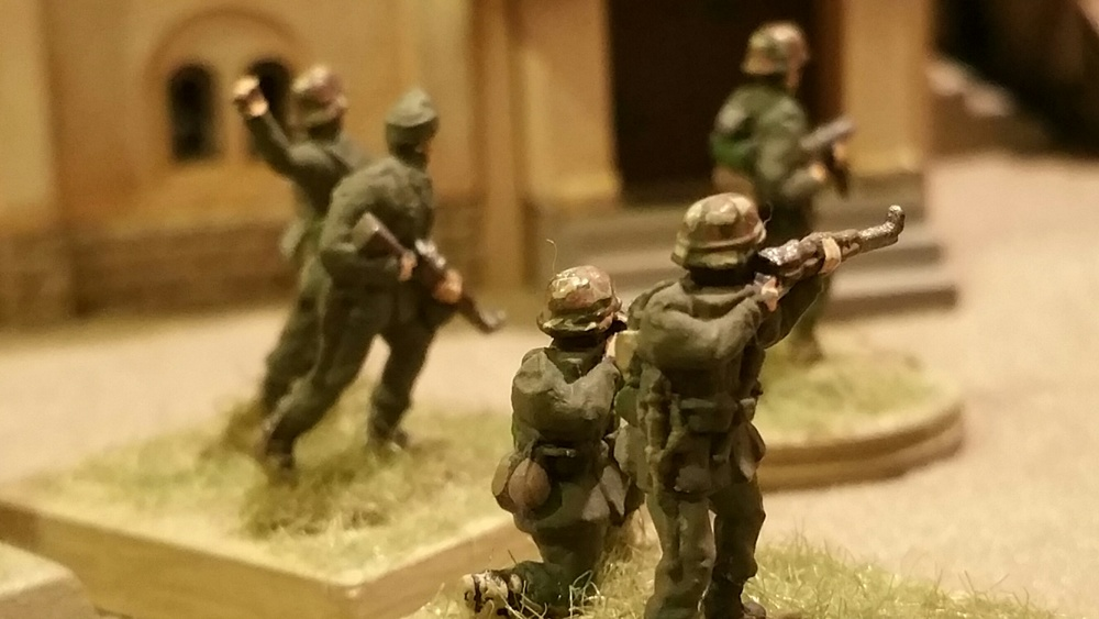 Close-up view of the victorious German panzer grenadiers.