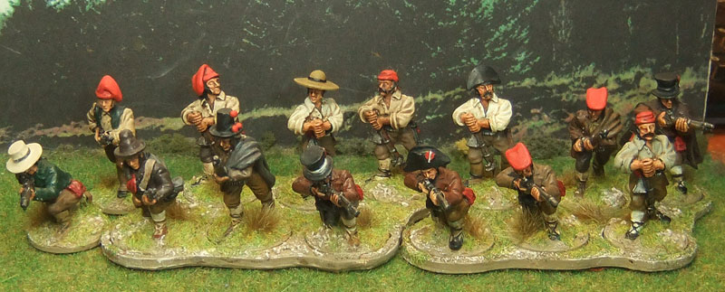 Continuing the Napoleonic theme, Derek Hodge's Spanish guerillos