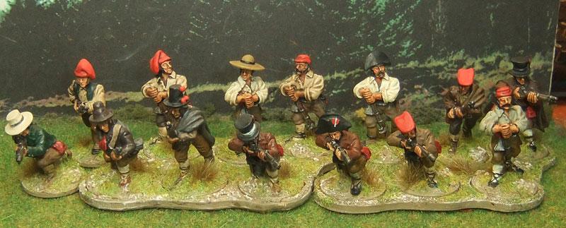 Continuing the Napoleonic theme, Derek Hodge's Spanish guerillos