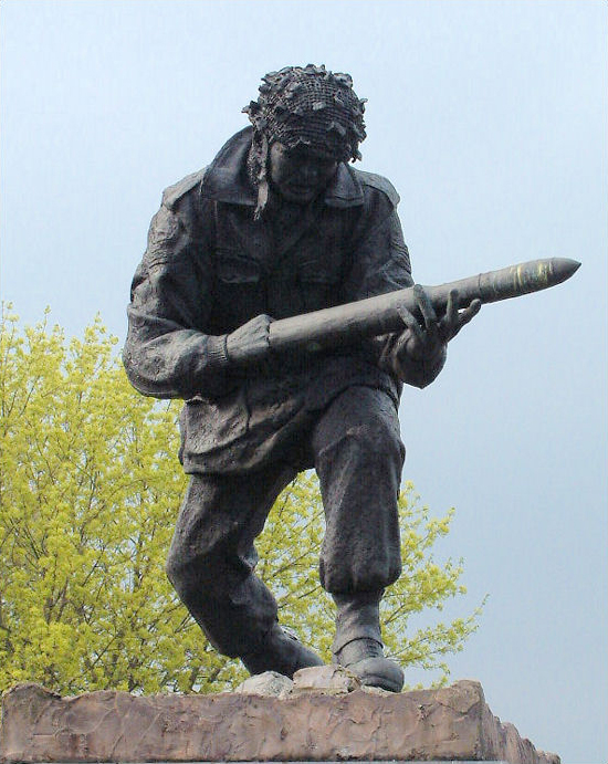 statue to John Baskeyfield unveiled in his home   town of Stoke on Trent in 1990