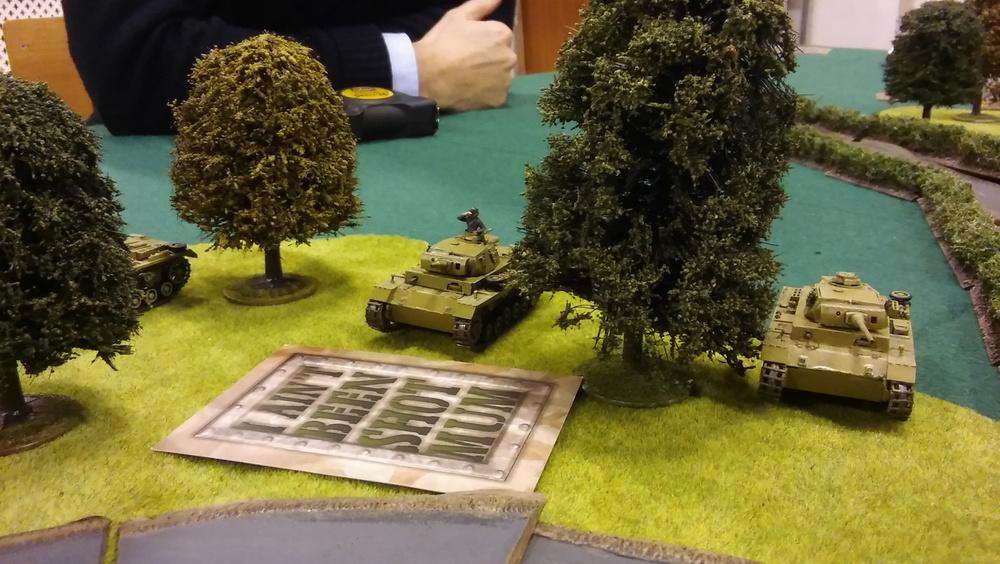 The panzer iiis crash into the wood