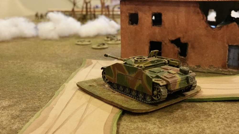 StuG behind the left flank
