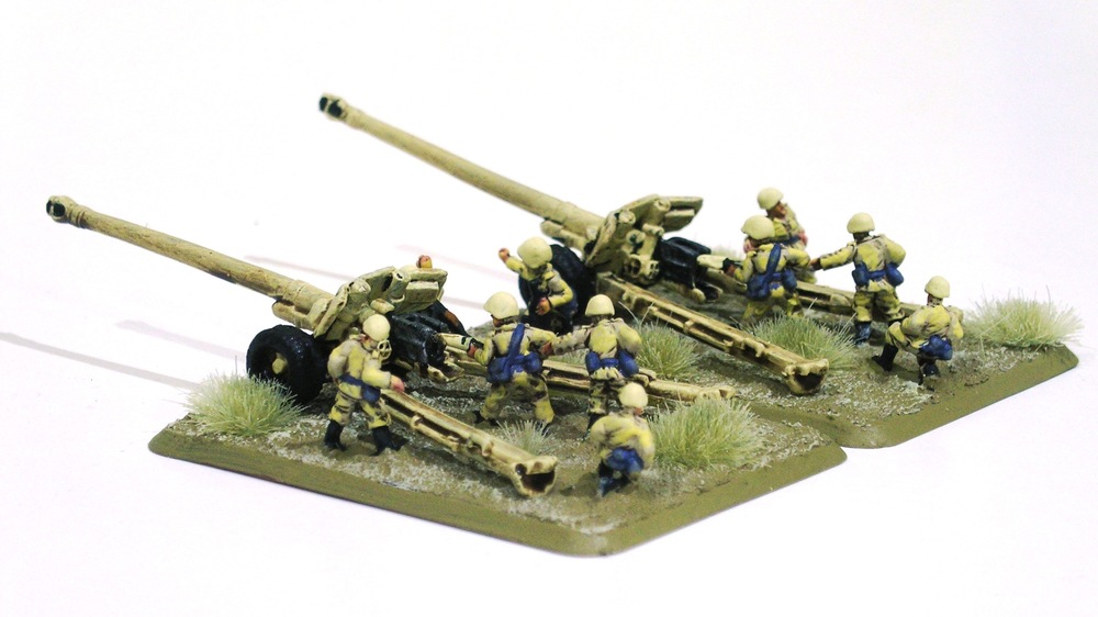towed anti-tank platoon b: 100mm bs-3 guns