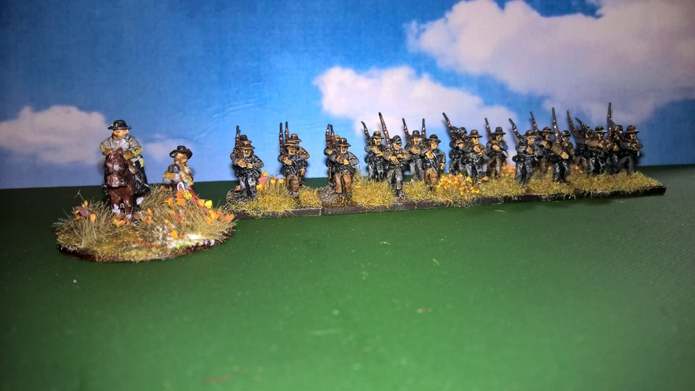 Andrew Helliwell's Confederate infantry