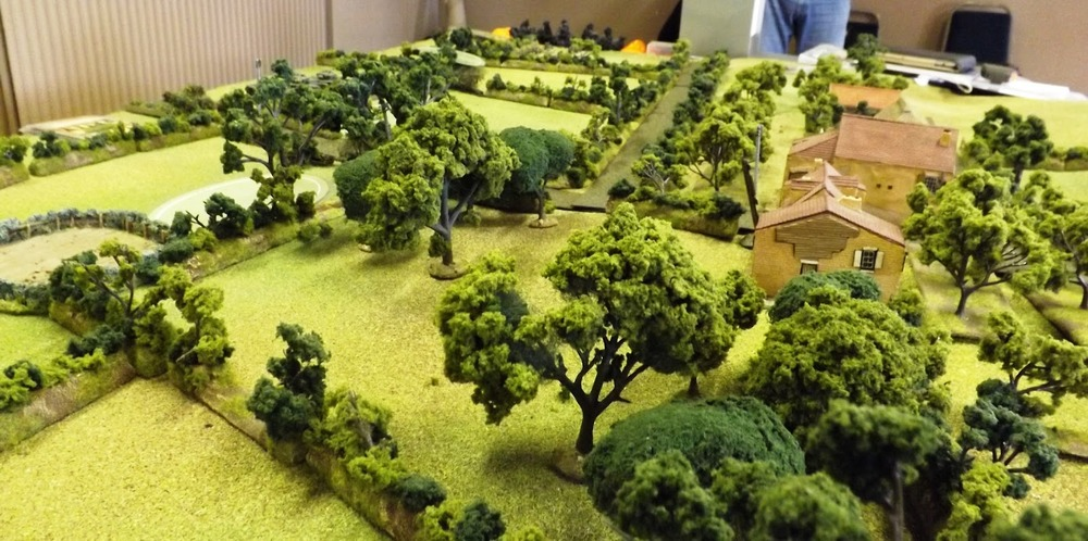 Close Normandy terrain providing plenty of cover for friend and foe alike