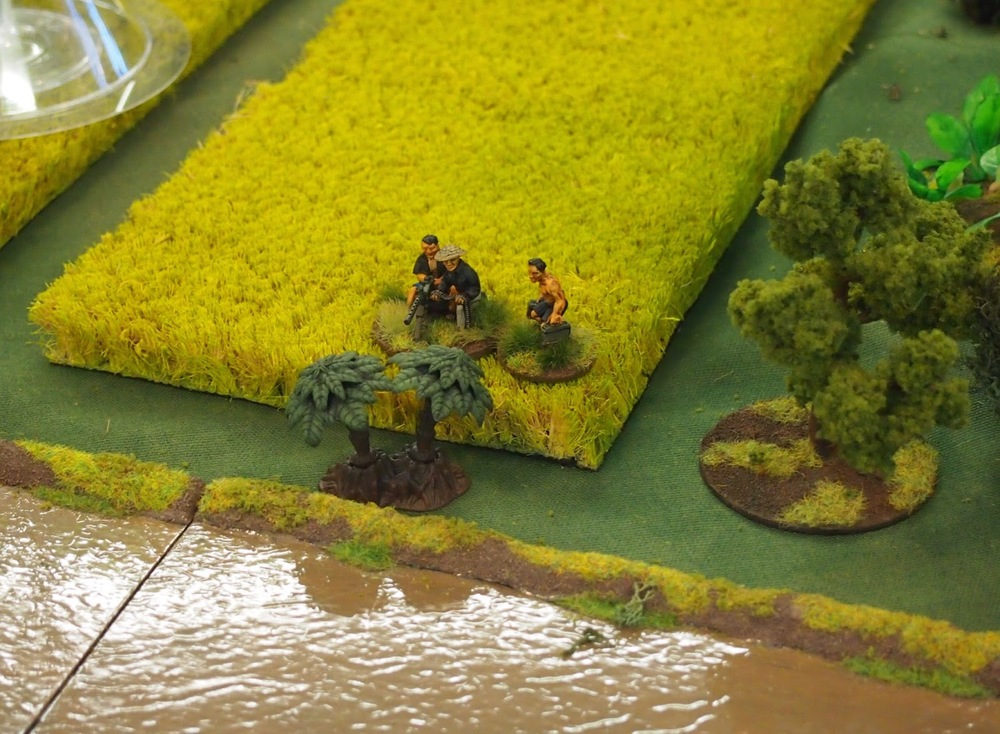 Repositioned MMG which did serious damage to to a section across the river