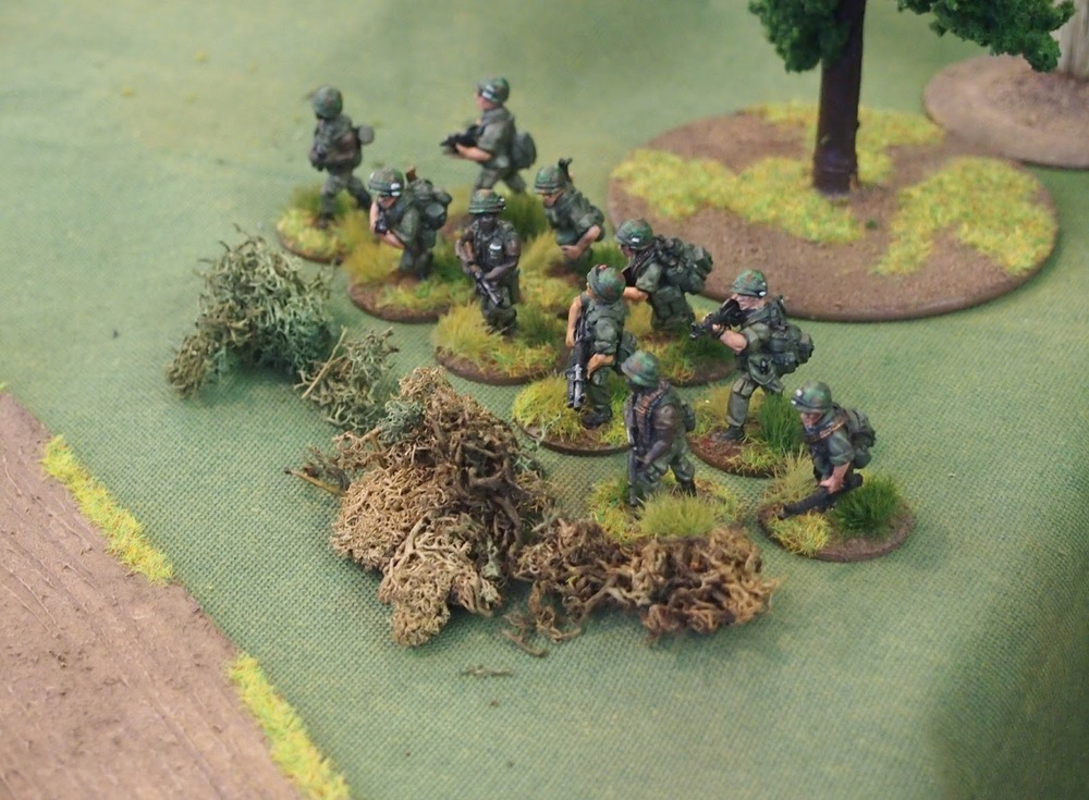 US 2nd platoon section three finally arrived and set up a defensive line