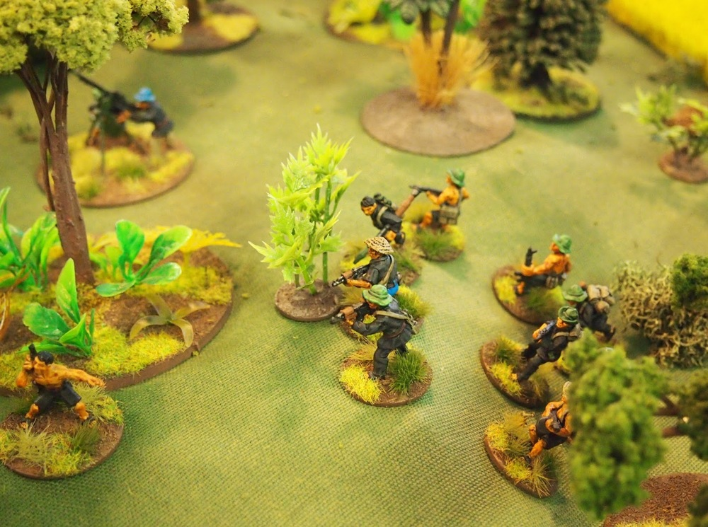 I allowed a destroyed VC section to come back on as reinforcements from the tunnel complex