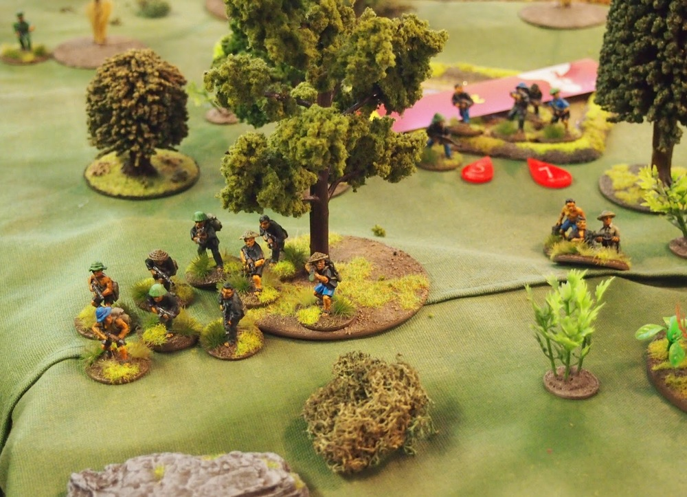 VC attack on the left flank still ongoing