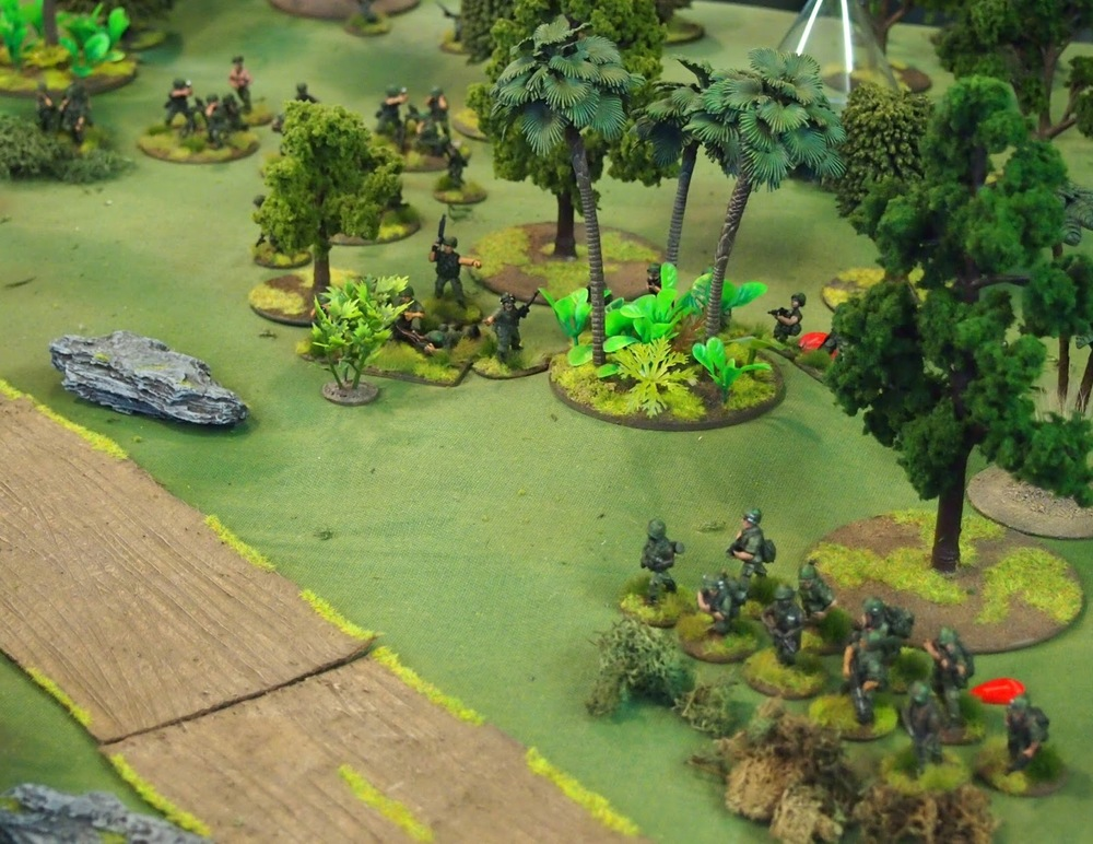 The reformed left flank protecting the Mortar position and HQ