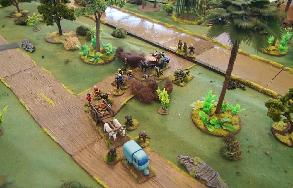 VC mortars targeting the Cillians