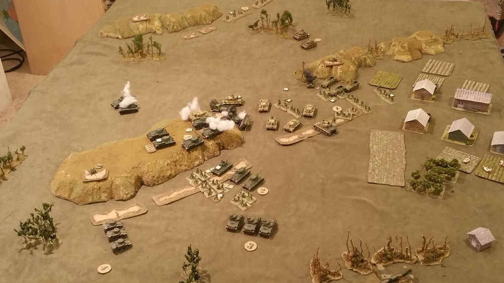 Overview of fight at the Gap