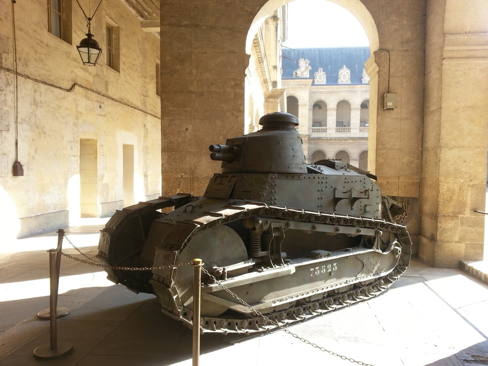 FT-17 Tank photographed at the Musee d'Armee, Paris