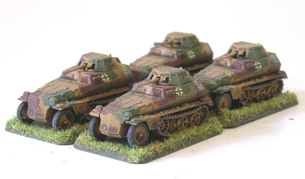 panzerspah zug (4 x Sdkfz 250/9)