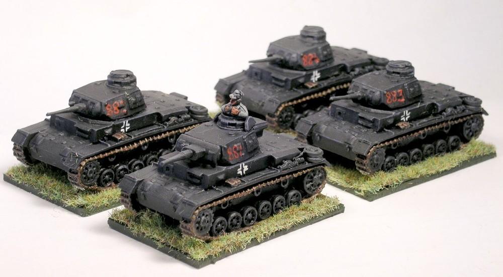1st (panzer III) platoon [with extra pz iii]