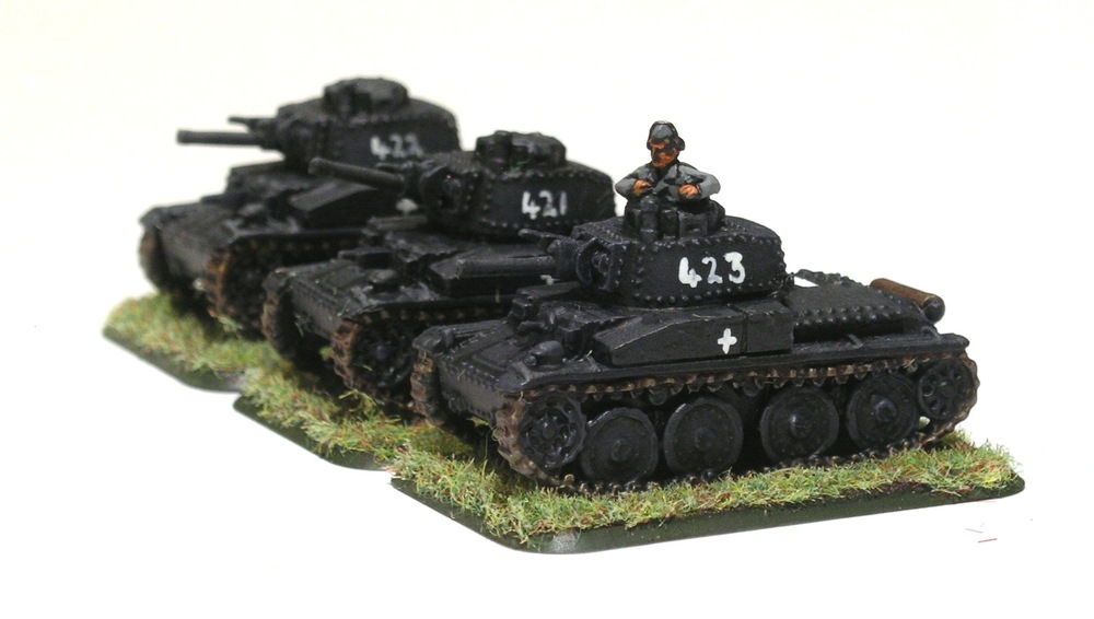 2ND (PANZER 38T) PLATOON [missing 2 x pz 38T]