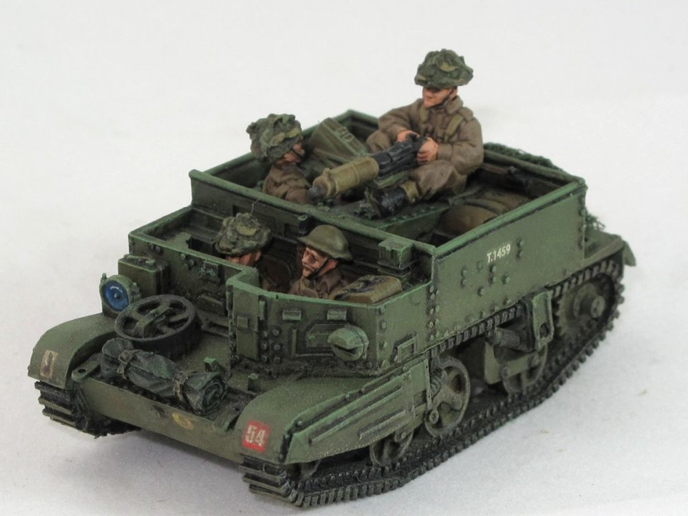 Andy Duffell's superb Vickers carrier in 28mm