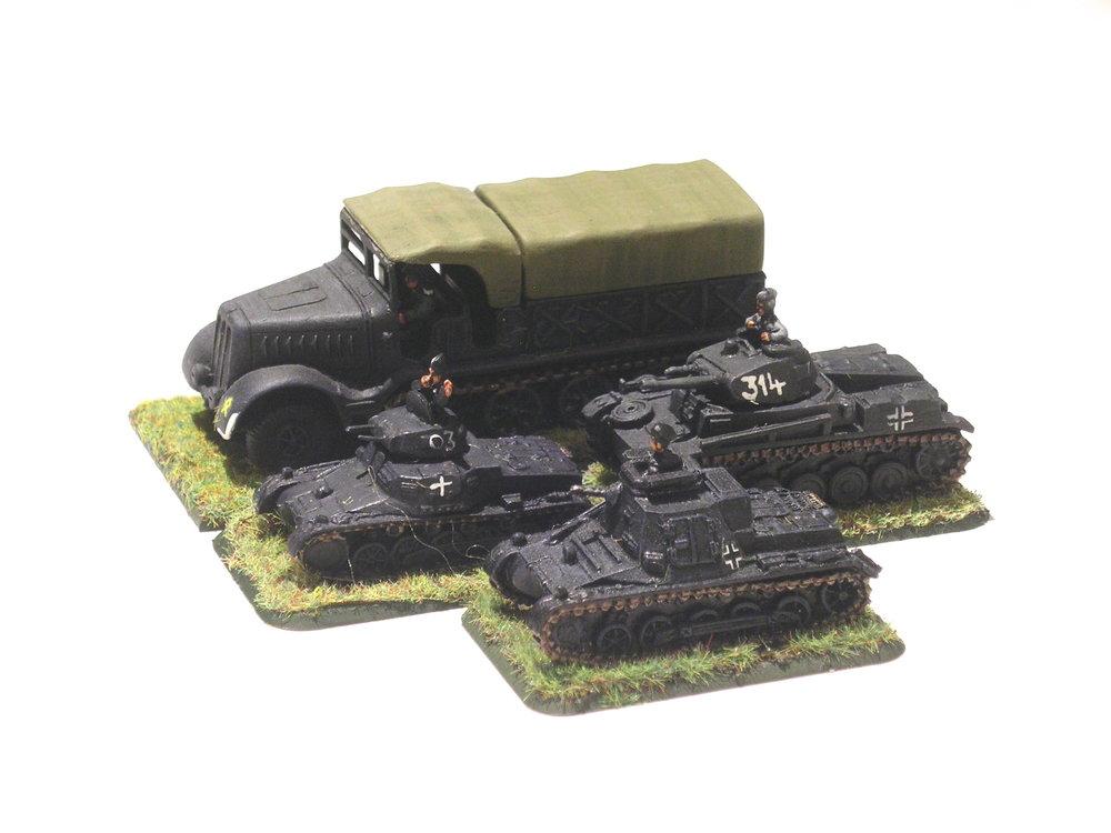 light tank company hq [missing 1 x pz ii]