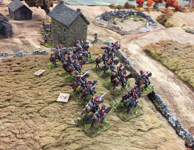 Some of Mark Luther's cavalry in action