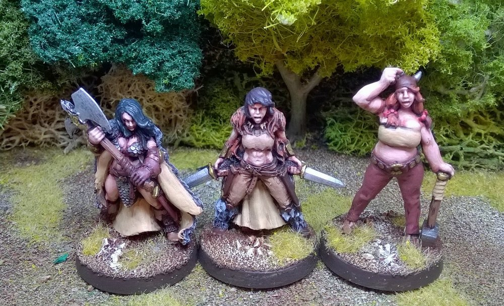 Just a few of Matt's barbarians: mine are okay, but I don't fancy yours!