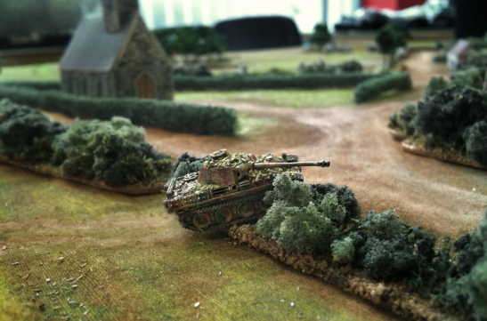 ...unaware of the German armour