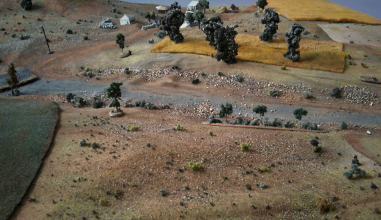 Pre battle german bombardment of the area of attack