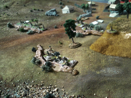 The Soviets entrenched sideways of the hamlet's main road