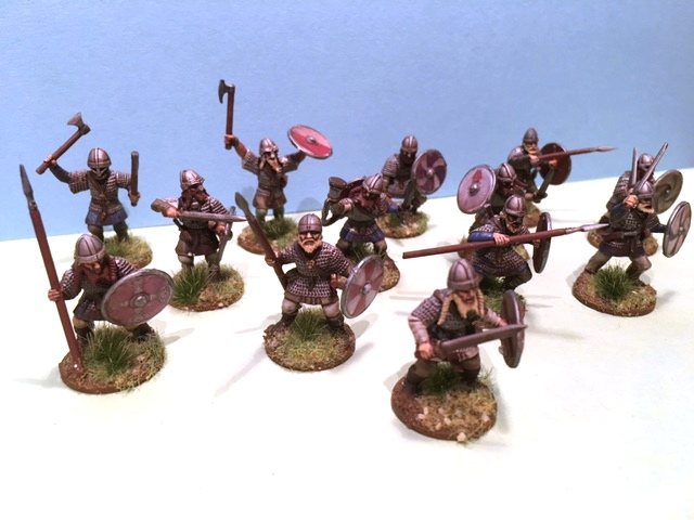 Chris Kay's vikings in 28mm