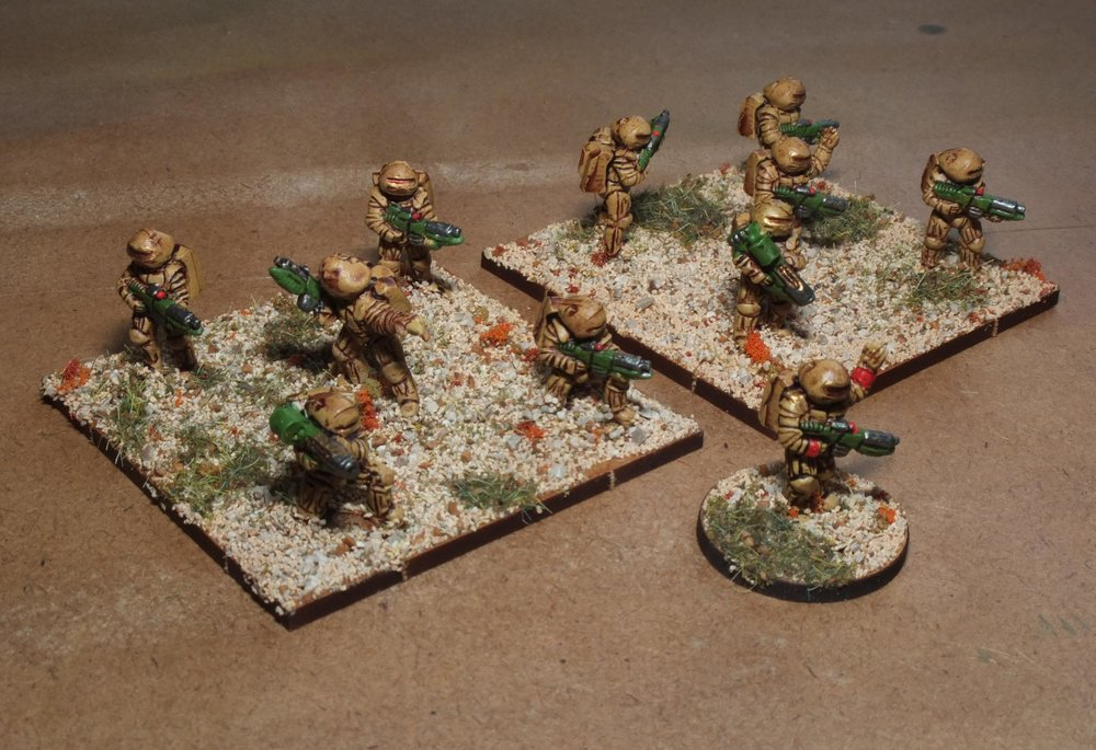 Carole's Space Marines in 15mm