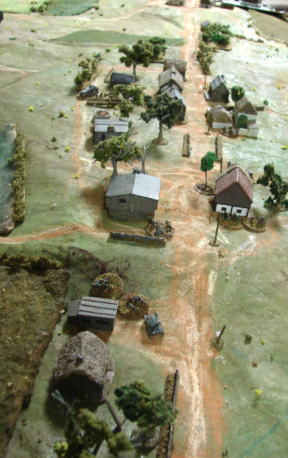 Close action and a T26 in the village
