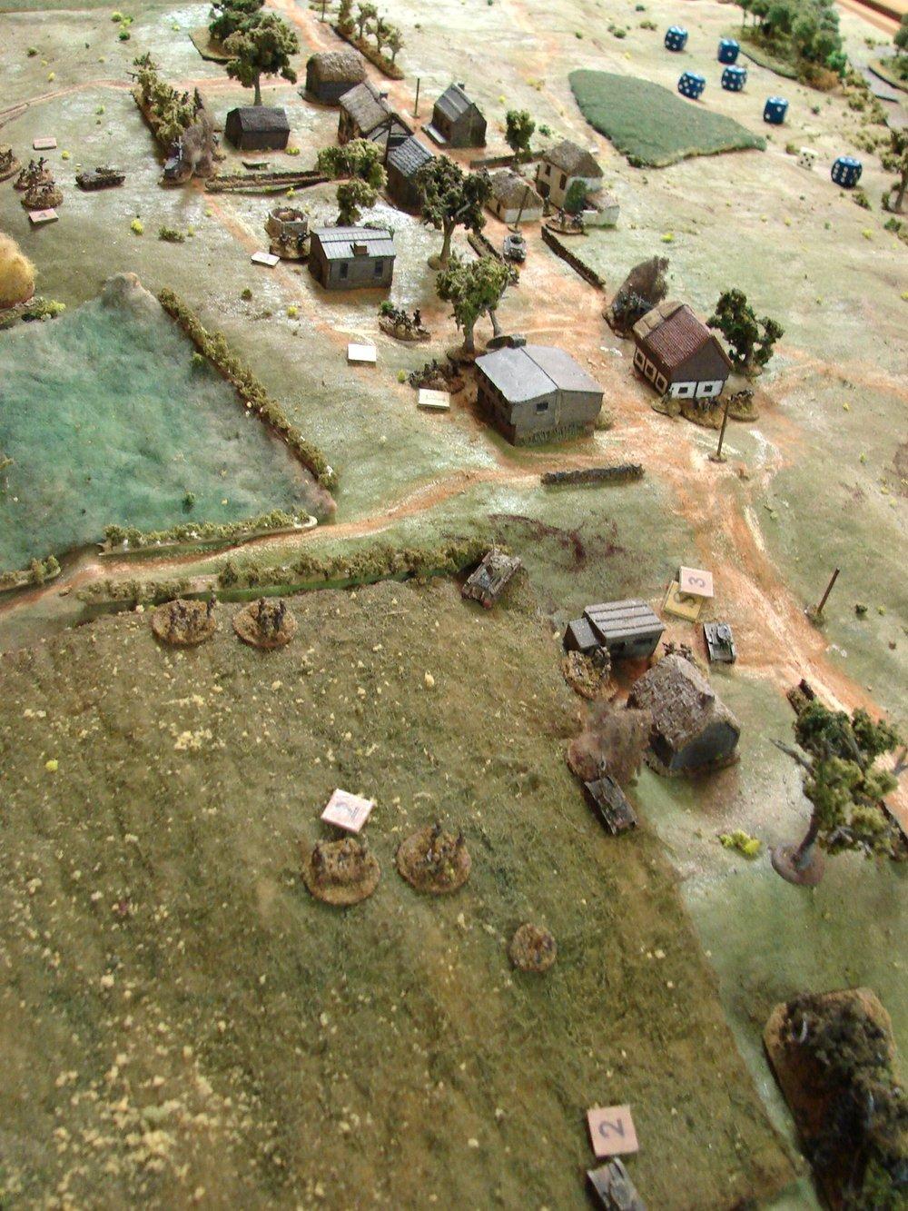 Un-coordinated advance along the ridge