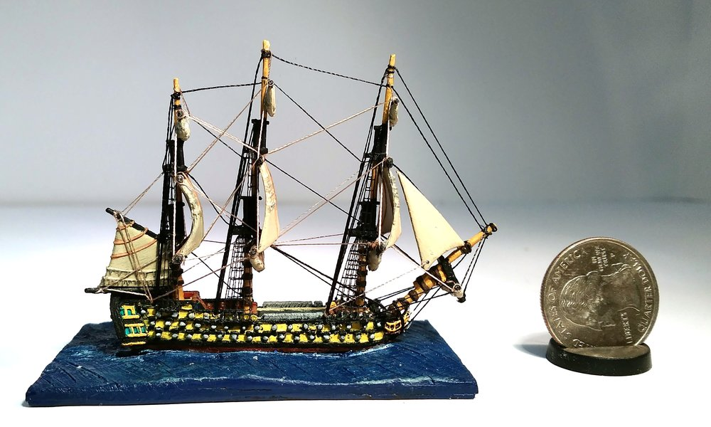 Brian's hand-rigged Napoleonic ship