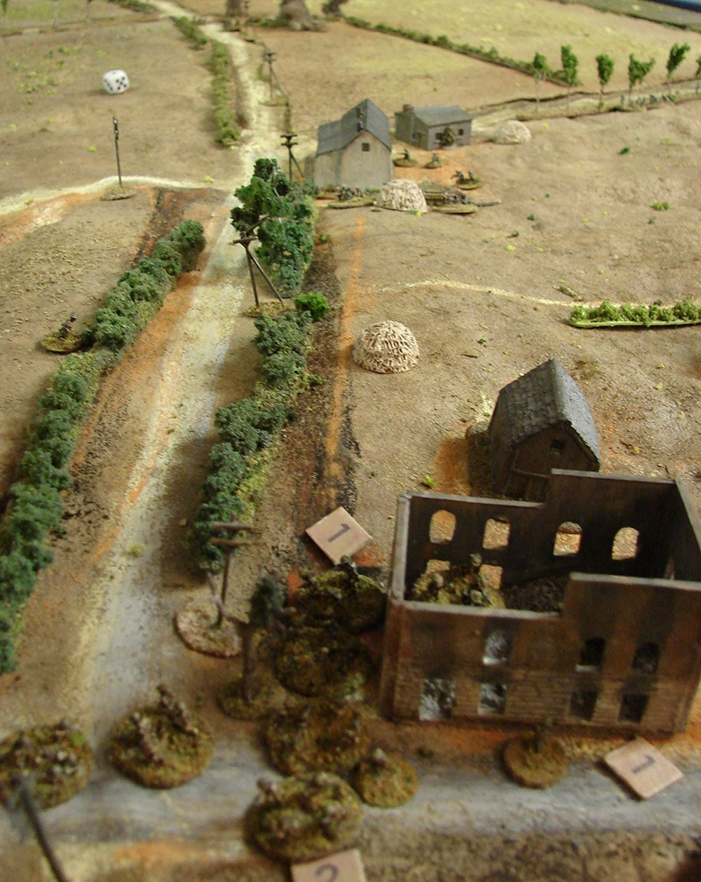 Securing the right flank
