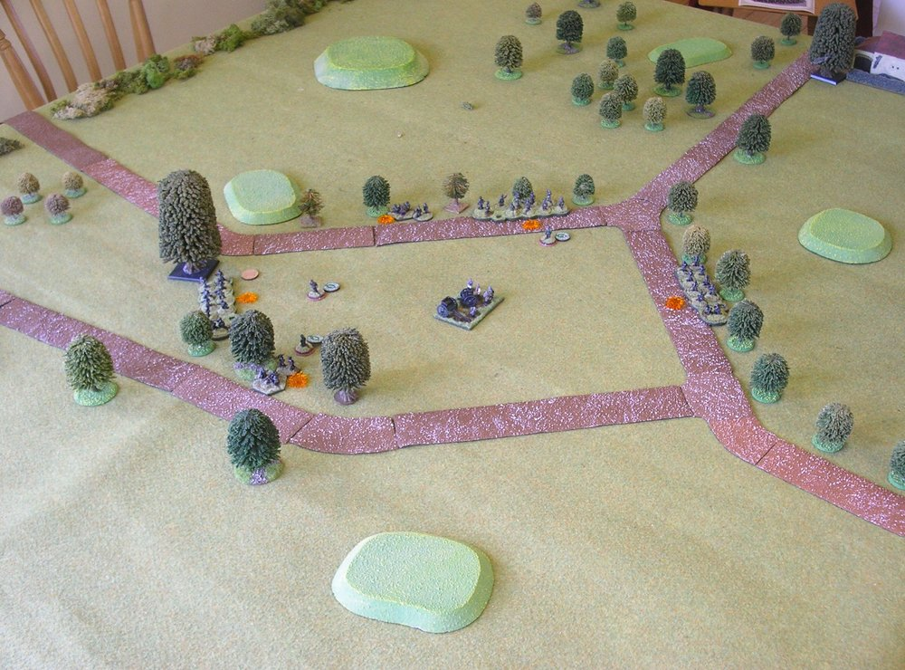 The table and German deployment