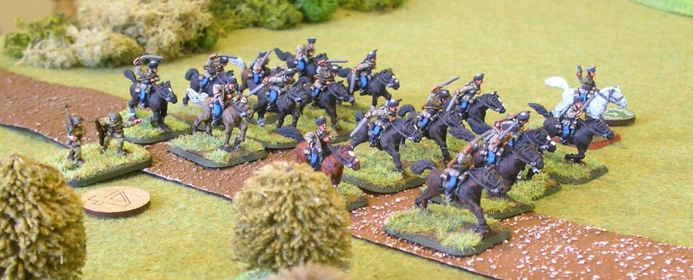 The fourth platoon of Polish cavalry arrive, dressed as Cossacks!