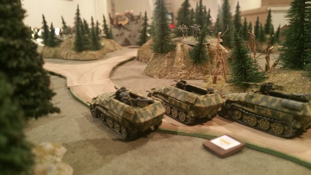 Panzergrenadiers Press the Bridge