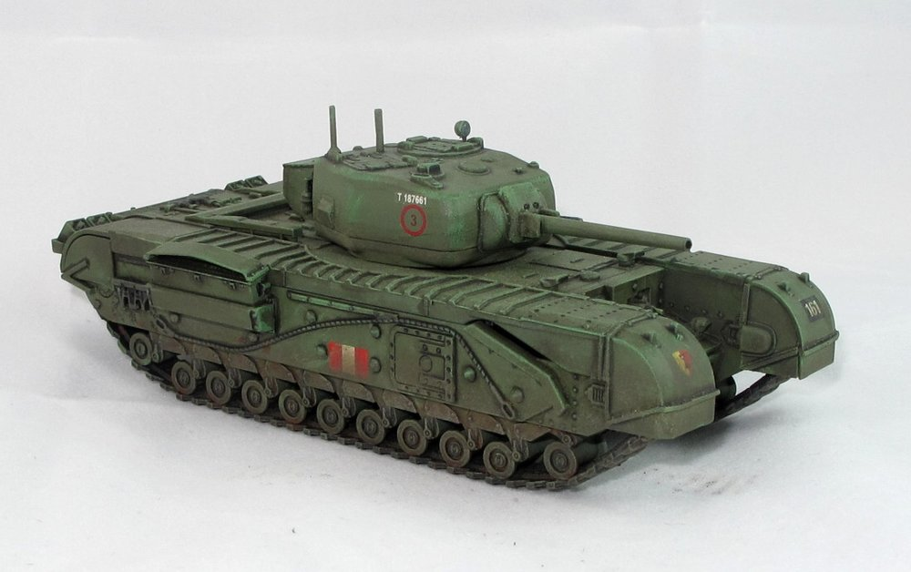Lovely Churchill tank in 28mm from Andy Duffell